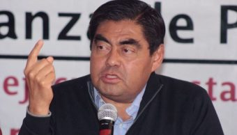 """Foto: La coalición """"Juntos Haremos Historia en Puebla"""" la conforman los partidos Morena, del Trabajo (PT) y Verde Ecologista de México (PVEM), y la abandera Luis Miguel Barbosa Huerta, el 14 de abril de 2019 (Twitter@MBarbosaMX)"""