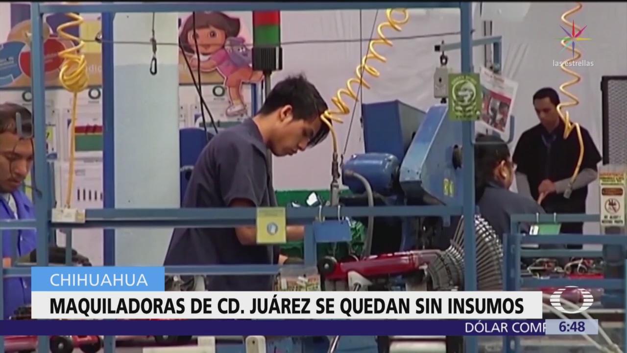 Maquiladoras de Ciudad Juárez se quedan sin insumos para producción