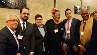 Foto: Miembros de la comunidad LGTB fueron recibidos en el Vaticano, 5 de abril de 2019