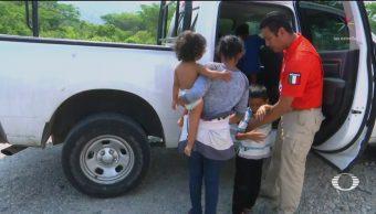 FOTO: Migrante hondureña recupera a su hijo tres días después de extraviarlo, 24 ABRIL 2019