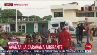 FOTO: Migrantes centroamericanos reanudan caminata a Mapastepec, Chiapas, 20 ABRIL 2019