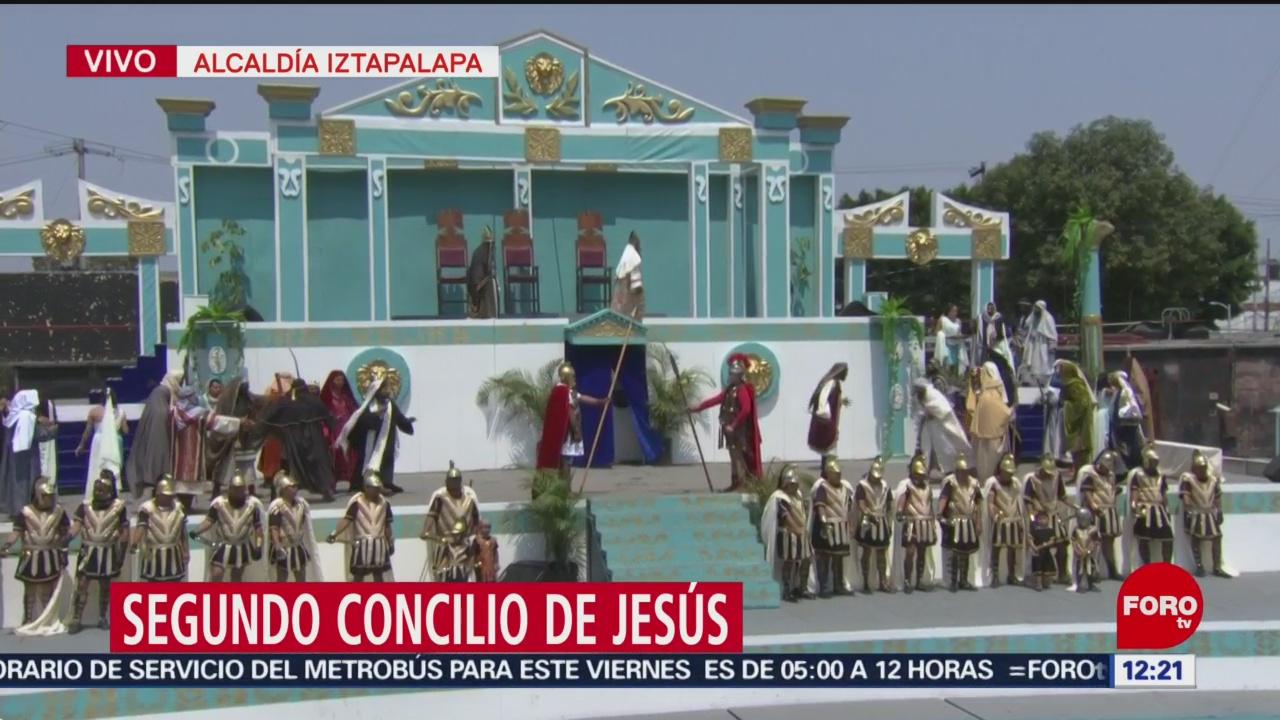 FOTO: Miles asisten a la representación de 'La Pasión de Cristo' en Iztapalapa, 19 ABRIL 2019