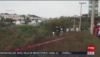 FOTO: Muere automovilista tras caer a barranco en Atizapán de Zaragoza, 7 de abril 2019