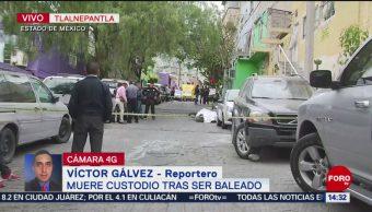 Foto: Muere custodio tras ser baleado en Tlalnepantla