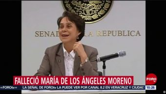 FOTO: Muere expresidenta del PRI, María de los Ángeles Moreno, 27 ABRIL 2019