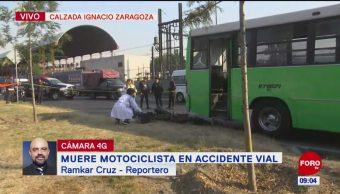 Muere motociclista durante accidente vial en Zaragoza, CDMX