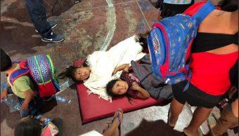 Foto: niños intoxicados en Guerrero, 30 de abril 2019. Twitter @HectorAstudillo