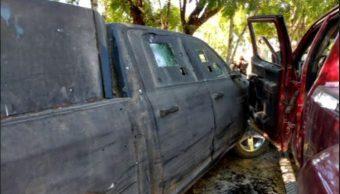 Foto: La balacera ocurrió en el entronque conocido como Palo Blanco, el 27 de abril de 2019 (Noticieros Televisa)