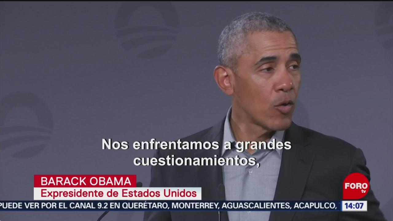 FOTO: Obama asiste a encuentro con jóvenes líderes en Alemania, 6 de abril 2019