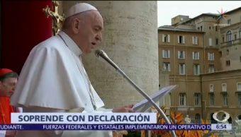 Papa dice que no tienen corazón quienes rechazan a homosexuales