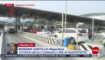 FOTO:Policía Federal retira a manifestantes de caseta México-Cuernavaca, 27 ABRIL 2019
