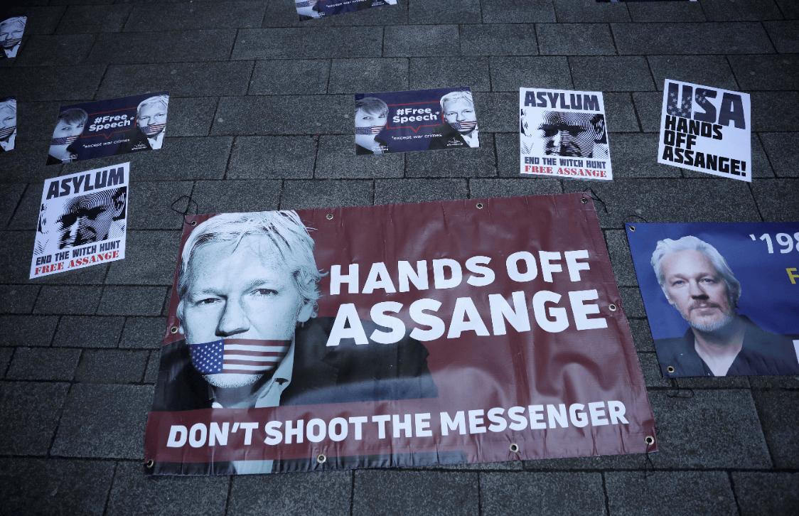 Foto: Protestas a favor de Assange, 11 de abril de 2019, Londres, Inglaterra