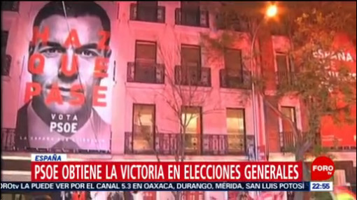 FOTO:PSOE obtiene la victoria en elecciones generales en España, 28 ABRIL 2019