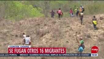 FOTO: Se fugan otros 16 migrantes en Comitán, Chiapas, 28 ABRIL 2019