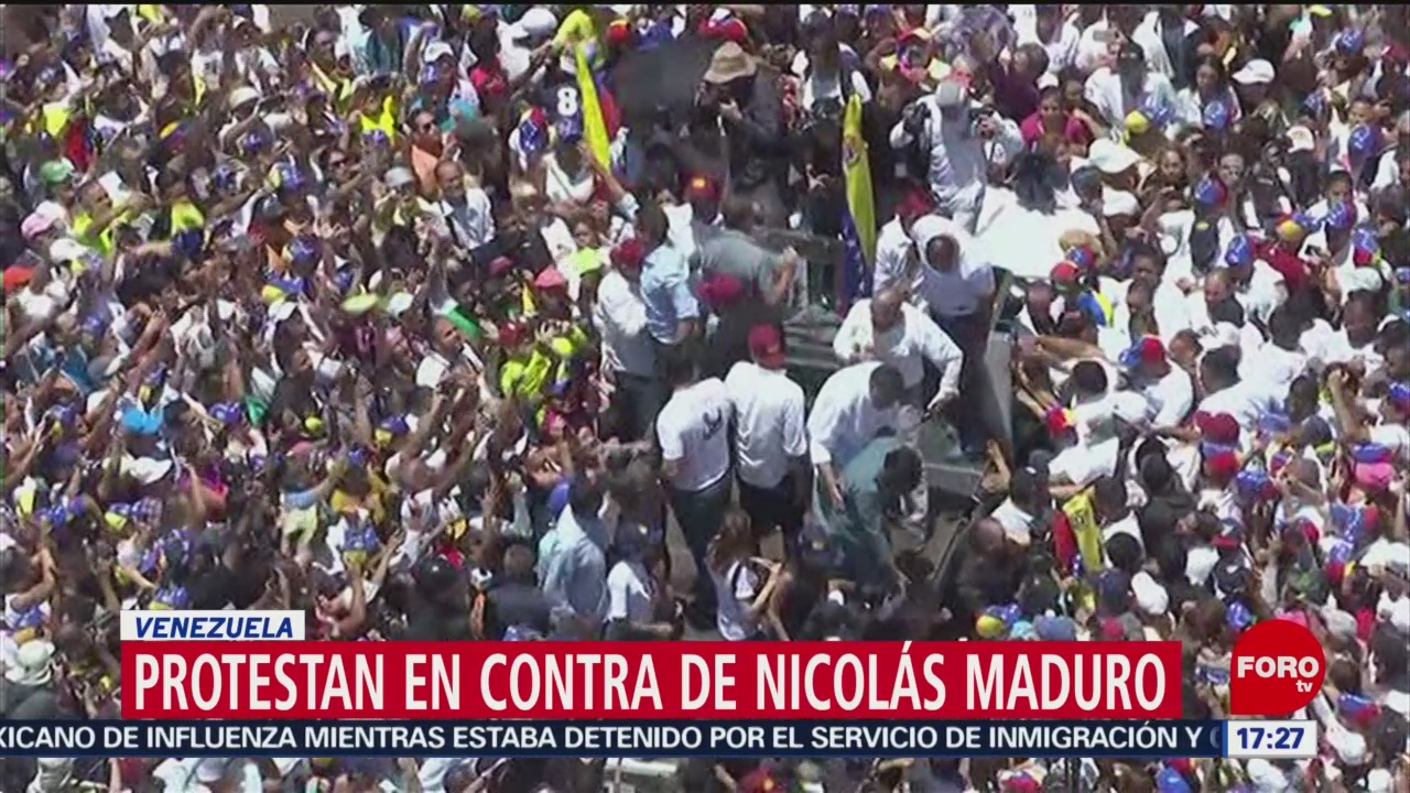 FOTO: Se realizan marchas a favor y en contra de Nicolás Maduro, 6 de abril 2019