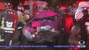 Se registra choque múltiple en Puente de Alvarado, CDMX