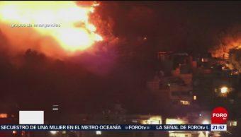 FOTO: Se registra incendio en de pastizales en Naucalpan, Edomex, 6 de abril 2019