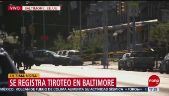FOTO: Se registra tiroteo en Baltimore, Estados Unidos, 28 ABRIL 2019