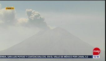 FOTO: Se registran 2 exhalaciones en el volcán Popocatépetl, 14 de abril 2019