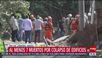 FOTO: Suman 7 muertos por colapso de edificios en Brasil, 13 de abril 2019