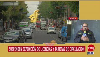 Suspenden expedición de licencias en CDMX