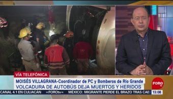 FOTO: Terminan labores de rescate de autobús que volcó en Zacatecas, 27 ABRIL 2019