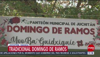 FOTO: Tradicional Domingo de Ramos en Juchitán, Oaxaca, 14 de abril 2019