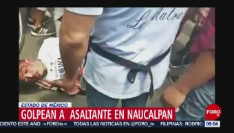 FOTO: Vecinos golpean a asaltante en Naucalpan en Estado de México, 7 de abril 2019