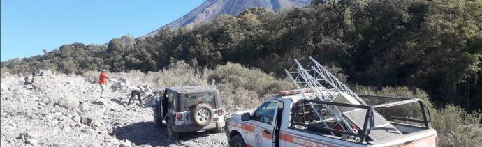 Foto: Volcán de Fuego de Colima, 5 de abril 2019. Twitter @PC_Colima