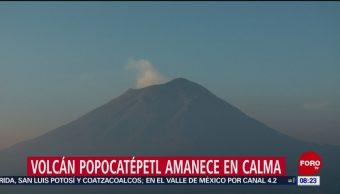 FOTO: Volcán Popocatépetl amanece en calma, 27 ABRIL 2019