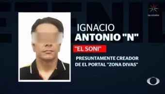 Foto: Ignacio, alias 'El Sony' fue detenido en Playa del Carmen, Quintana Roo, el 6 de marzo de 2019 (Noticieros Televisa)