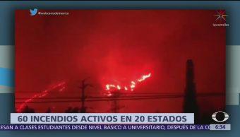 60 incendios siguen activos en México