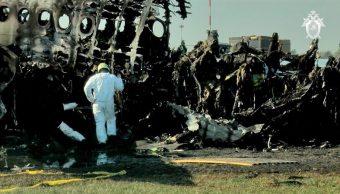 Encuentran cajas negras del avión siniestrado en aeropuerto de Moscú