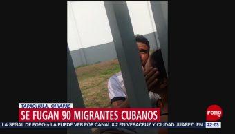 FOTO: 90 migrantes cubanos se fugan en Tapachula, Chiapas, 5 MAYO 2019