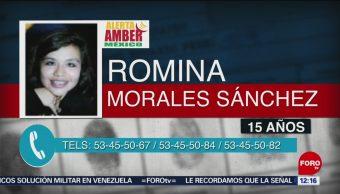Activan Alerta Amber para localizar a Romina Morales Sánchez