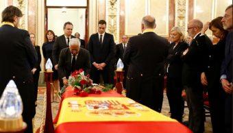 Foto: Las más altas autoridades de España, representantes de los principales partidos políticos y miles de ciudadanos despiden al exvicepresidente del Gobierno español Alfredo Pérez Rubalcaba, mayo 11 de 2019(Twitter: @PSOE)