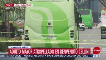 FOTO: Adulto mayor atropellado en Mixcoac