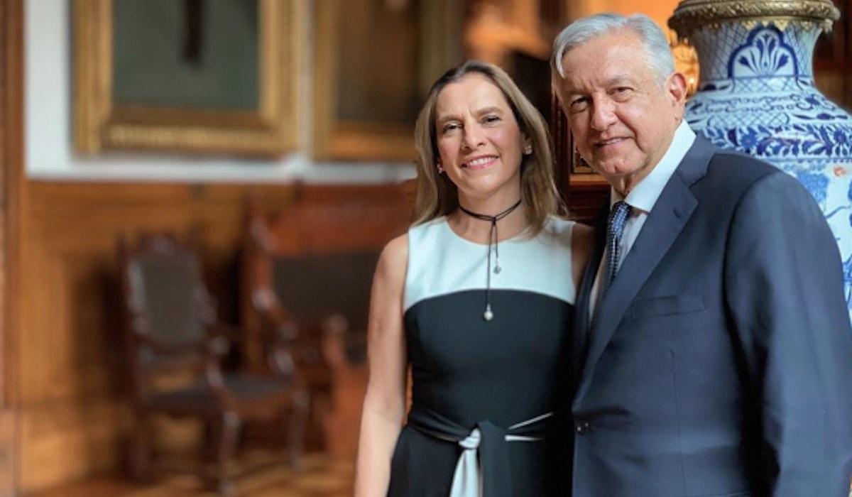 Foto AMLO Beatriz Gutiérrez Müller 28 Mayo 2019