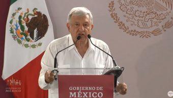 Foto: AMLO se comprometió también en Coahuila que hará cumplir el artículo cuarto constitucional que garantiza la salud y las medicinas para todos, el 4 de mayo de 2019 (Gobierno de México YouTube)