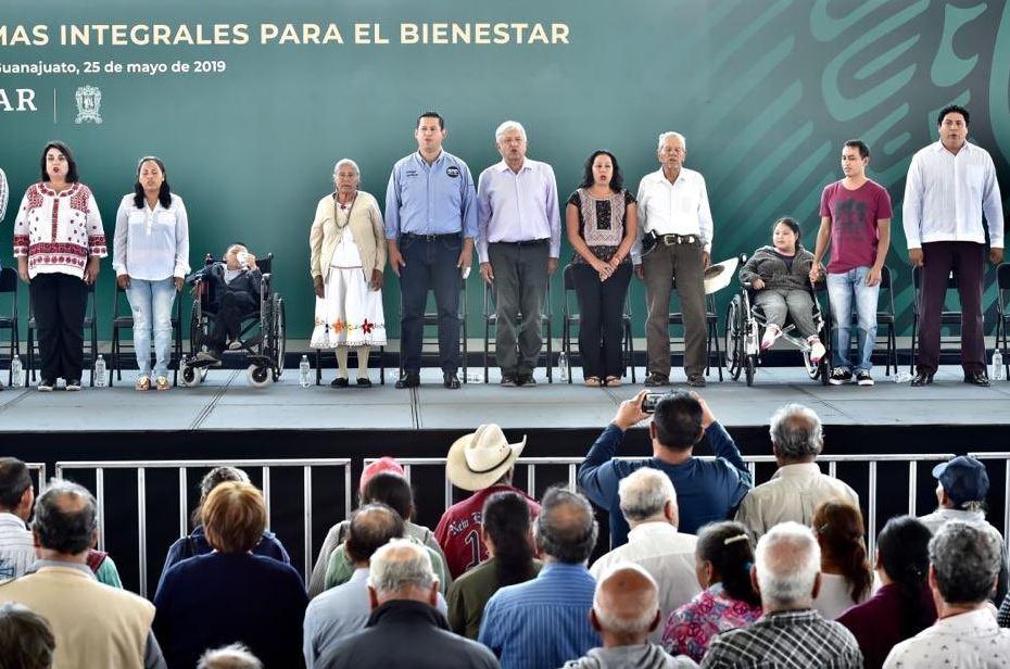 Foto: El presidente Andrés Manuel López Obrador en el municipio de San Luis de la Paz, Guanajuato, 25 mayo 2019