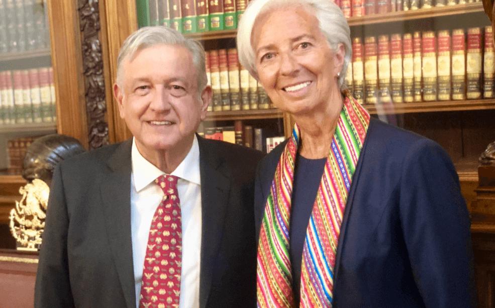 FOTO AMLO se reúne con directora del Fondo Monetario Internacional en Palacio Nacional (Twitter 29 mayo 2019 cdmx)