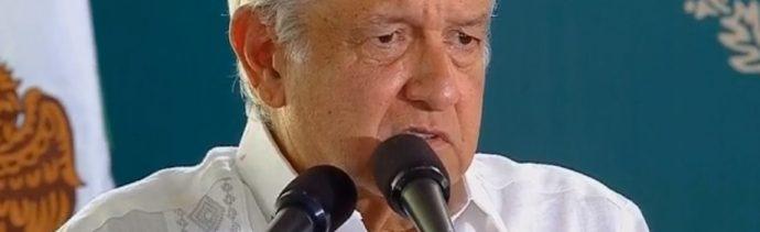 El presidente Andrés Manuel López Obrador acepta la renuncia de Josefa González Blanco, titular de la Semarnat, Querétaro, México, mayo 25 de 2019 (Facebook: Gobierno de México)