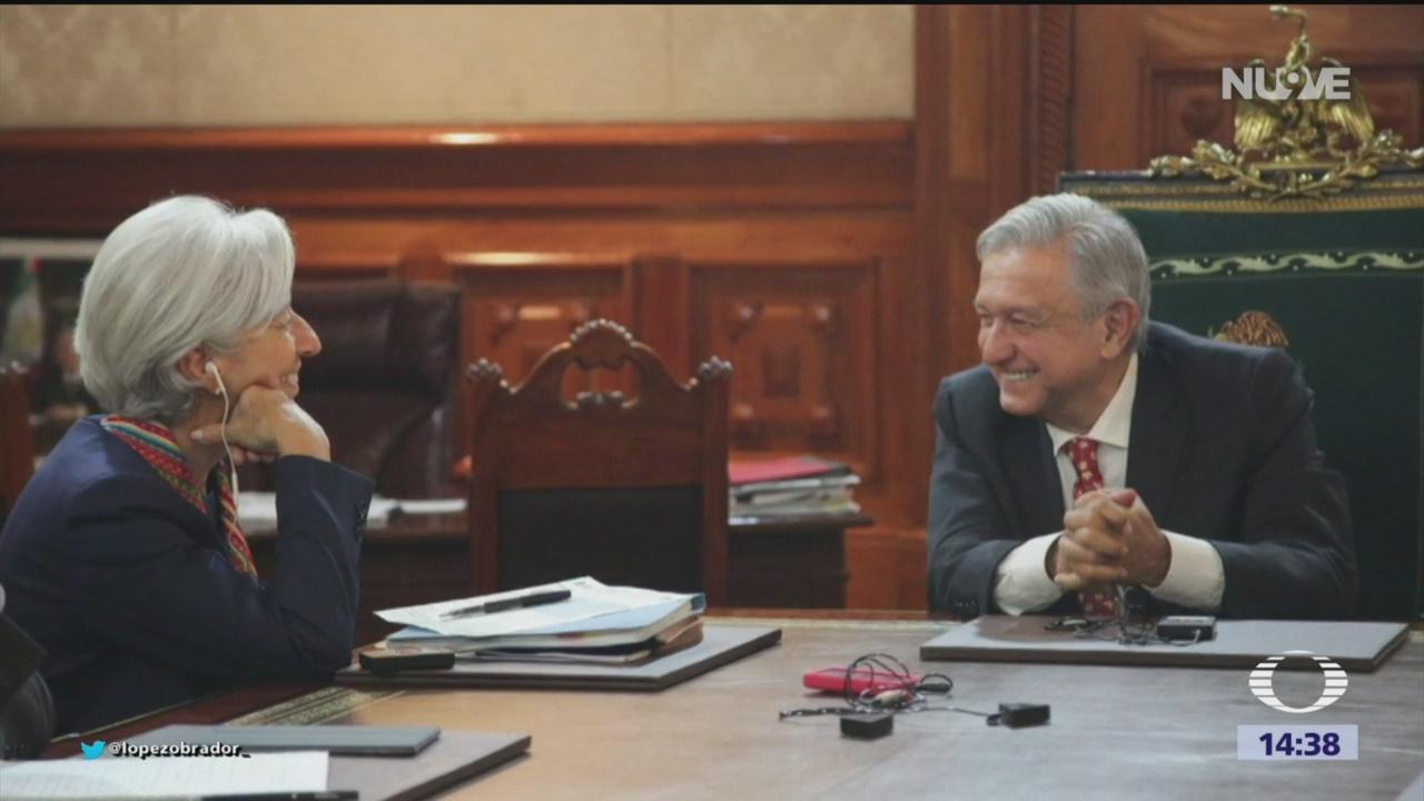 FOTO: AMLO se reúne con Christine Lagarde