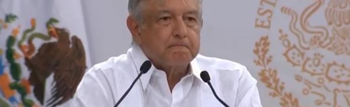 FOTO AMLO visita Pinos, Zacatecas, donde entrega apoyos de Bienestar (YouTube 24 mayo 2019 pinos zacatecas)