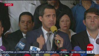 Anuncia Juan Guaidó que continuarán las movilizaciones en Venezuela