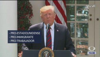 Foto: Anuncia Trump proyecto migratorio