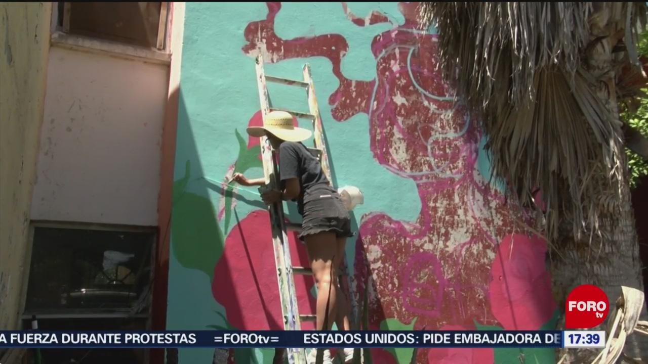 Foto: Artistas buscan cambiar la cara de una zona popular en San Nicolás