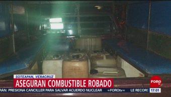 FOTO: Aseguran combustible robado en Soteapan, Veracruz, 18 MAYO 2019