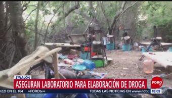 FOTO: Aseguran laboratorio para elaboración de droga en Sinaloa, 19 MAYO 2019