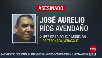 FOTO: Asesinan a jefe de la Policía de Tezonapa, Veracruz, 11 MAYO 2019